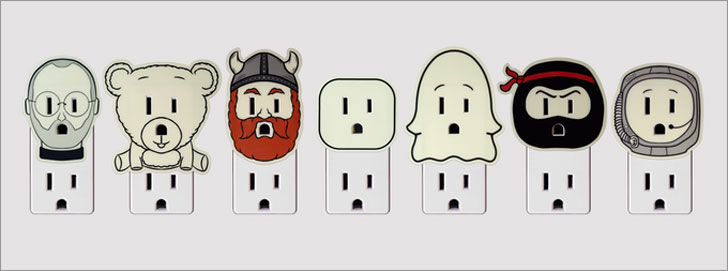 Glow-In-The-Dark Outlet Decals