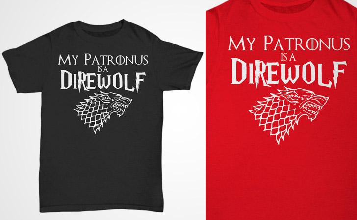 Harry Potter My Patronus is a Direwolf