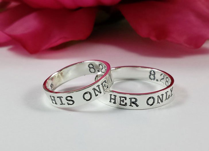 His One Her Only Promise Rings Set