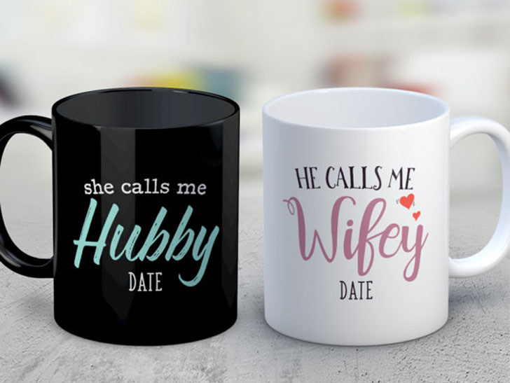 Hubby and Wife Mugs