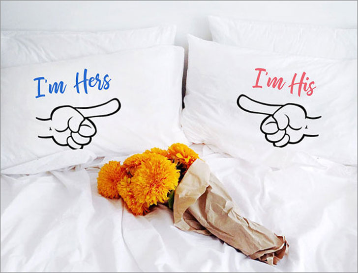 I'm Hers and I'm His Pillows - Anniversary Gifts For Parents