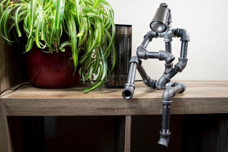Industrial Sitting robot lamp