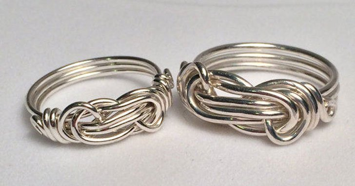 Infinity Silver Rings for Couples