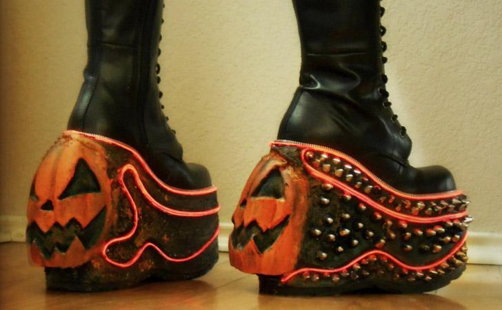 Jack-O-Lantern LED Pumpkin Boots