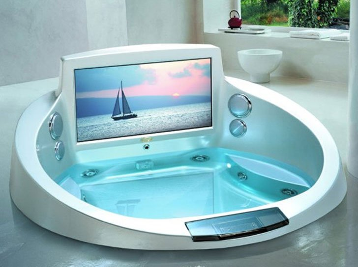 Jacuzzi Entertainment System Bathtub   Cool Bathtubs