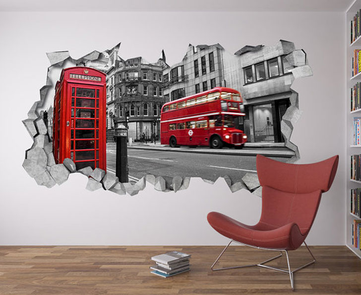 London Scene Wall Decal