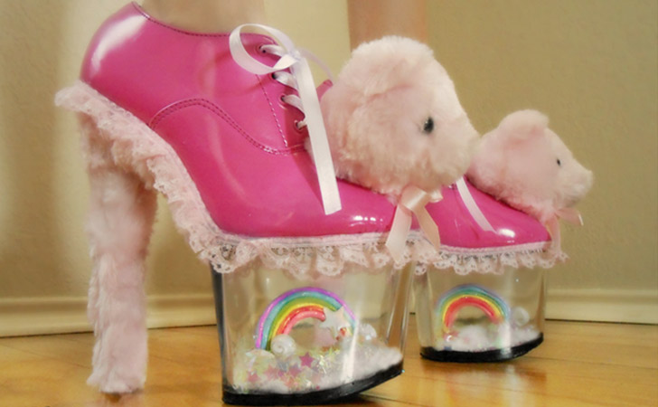 Miniature Rainbow Bear Heels
