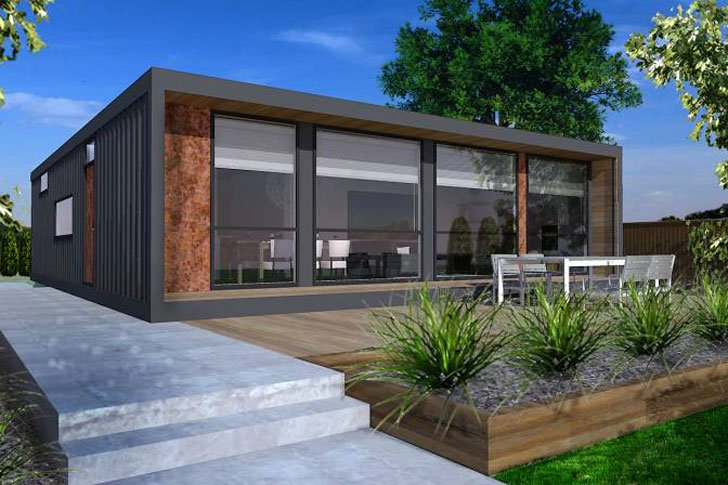 Modern modular shipping container homes awesome stuff 365 for Prefabricated shipping container homes