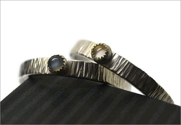 Moonstone Matching Rings