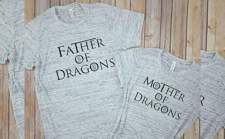 Mother of Dragons Matching Tees for Couples