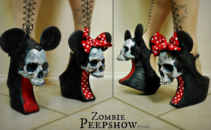 Mouse Skull Wedges - weird shoes