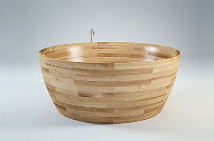 Munai Wood Bathtub by Unique Wood
