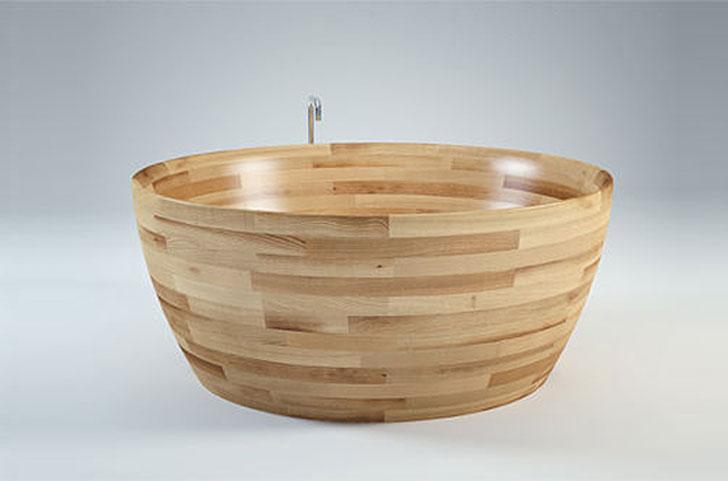 Munai Wood Bathtub by Unique Wood