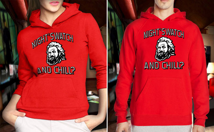 Night's Watch And Chill His And Hers Hoodies