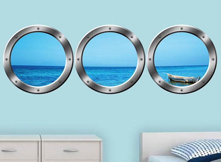 Ocean Portholes Wall Decals
