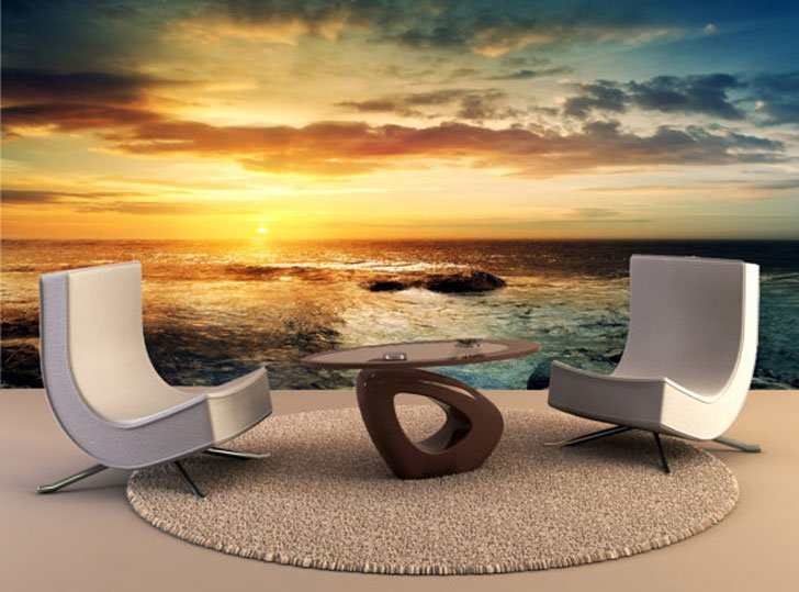 Ocean Sunset Wall Decal