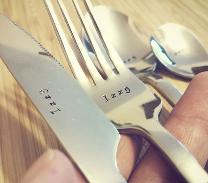 Personalised Cutlery - Anniversary Gifts For Parents