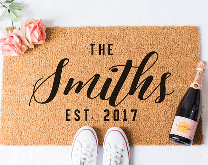 Personalised Doormats - Anniversary Gifts For Parents