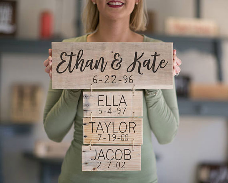Personalised Family Name Sign Anniversary Gift