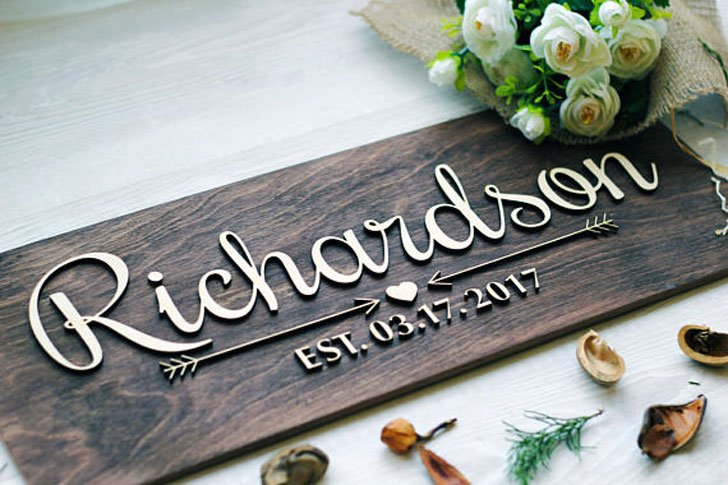 Personalised Family Name Signs