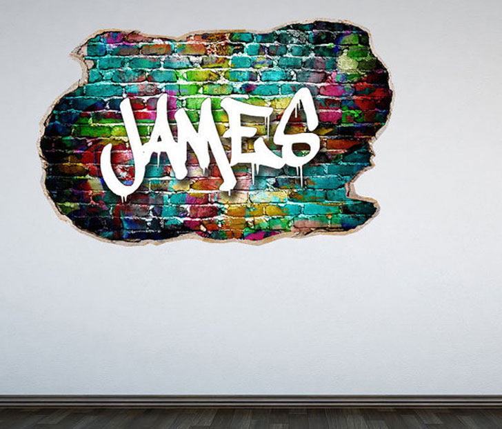 Gentil Personalised Graffiti Wall Decals