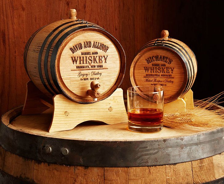 Personalised Mini Whiskey Barrels - Anniversary Gifts For Parents