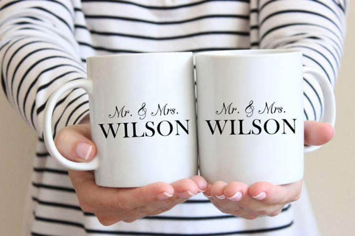 Personalised Mr. and Mrs. Mugs - Anniversary Gifts For Parents