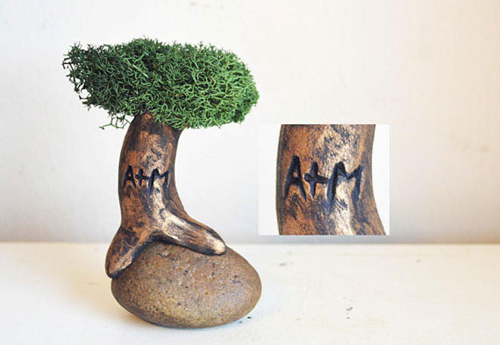Personalised Tree with Your Initials - anniversary gifts for parents