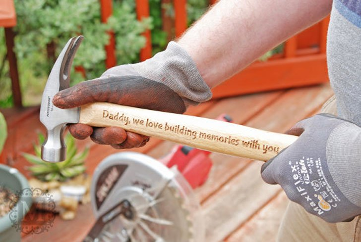 Personalized Daddy Hammer Message