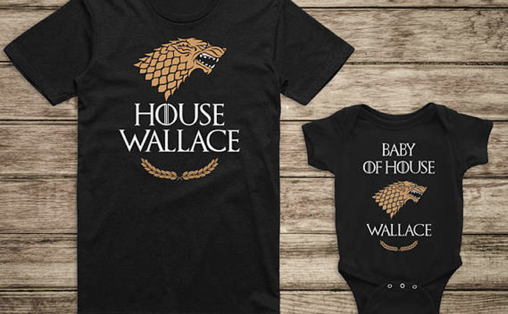 Personalized House Dad and Baby T-Shirts