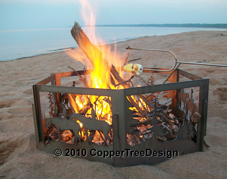 Portable Horse & Forest Fire Pit