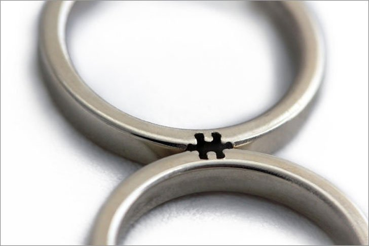Puzzle Couples Rings