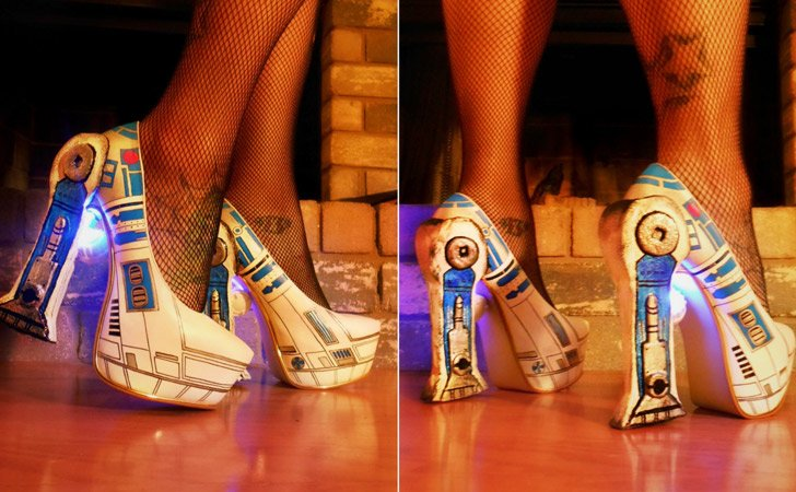 R2D2 LED Pumps - weird shoes crazy shoes