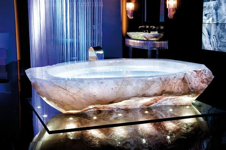 Rock Crystal Bathtub