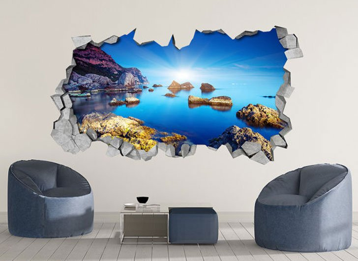 Rocky Sea 3D Wall Art