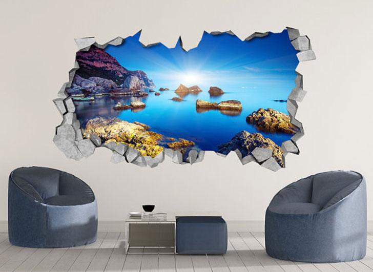 Rocky Sea 3D Wall Art