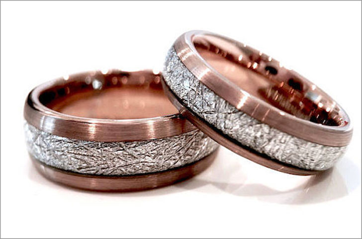 Rose Gold Tungsten Rings for Him and Her