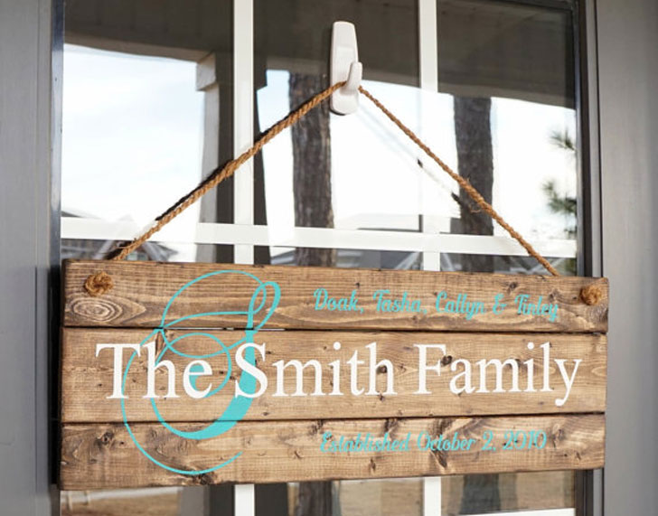 Rustic Family Established Sign
