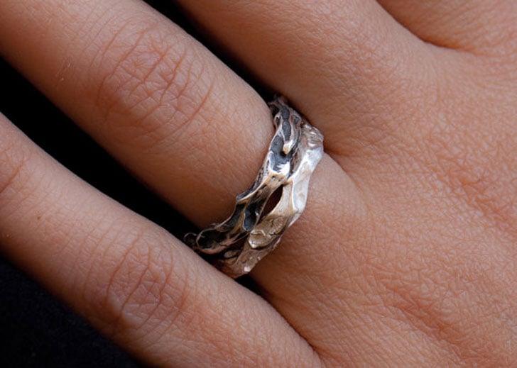 Rustic Organic Couple Rings