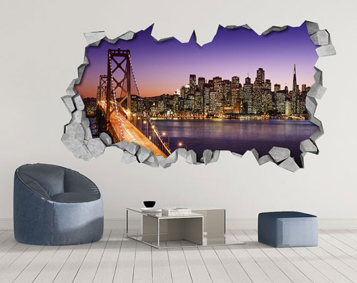 San Francisco Skyline Wall Decals