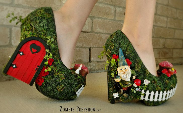 Secret Garden Gnome Pumps