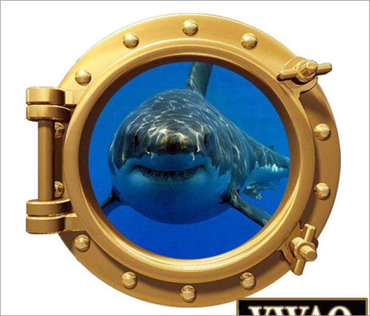 Shark Porthole Wall Decal