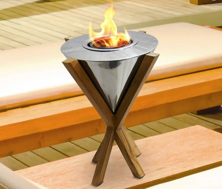 Southampton Teak Indoor-Outdoor Fire Pit