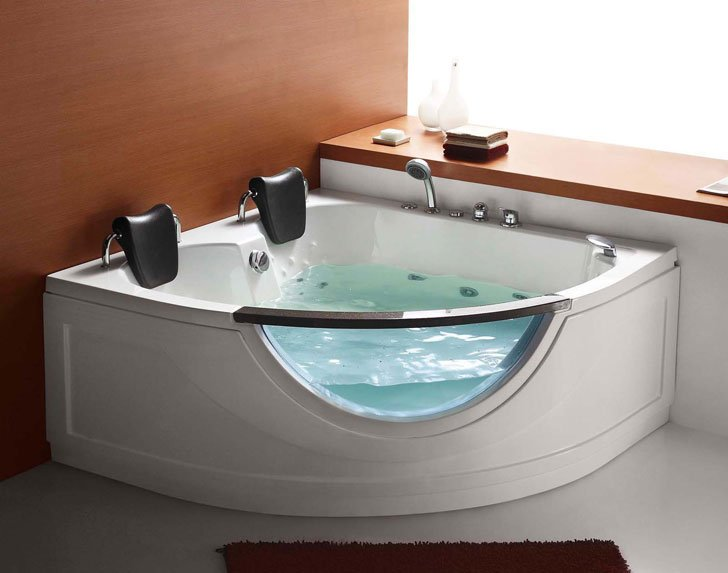 Steam Planet Two Person Corner Whirlpool Tub - cool bathtubs