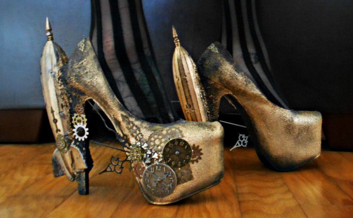 Steampunk Clockwork Heels