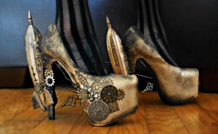 Steampunk Clockwork Heels