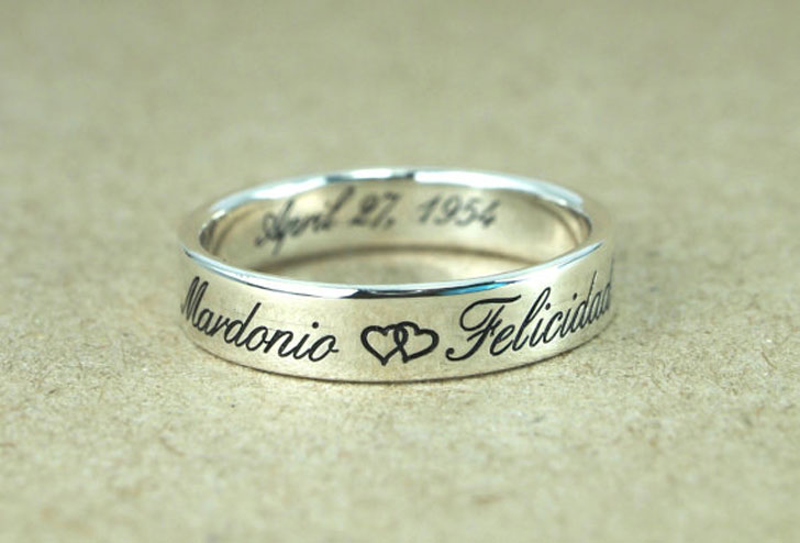 Sterling Silver His and Her Promise Rings
