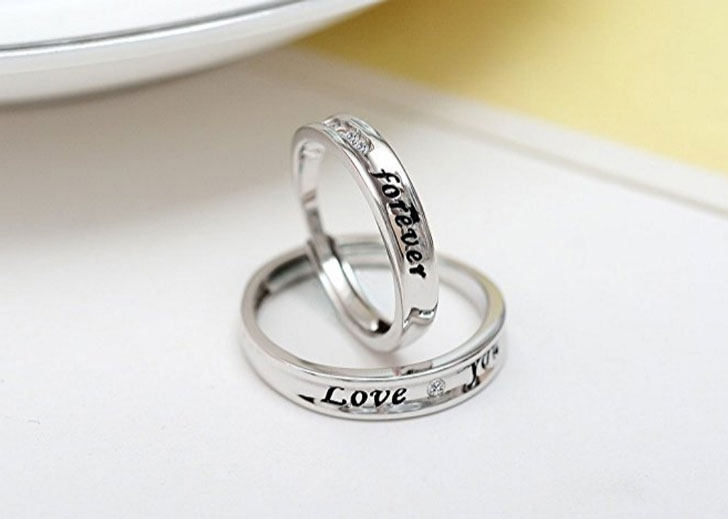Sterling Silver Matching Halo Promise Rings