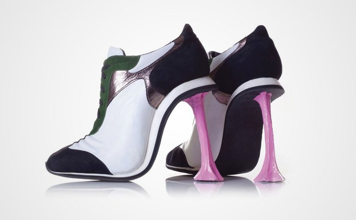 Stuck Chewing Gum Heel Shoes - weird shoes