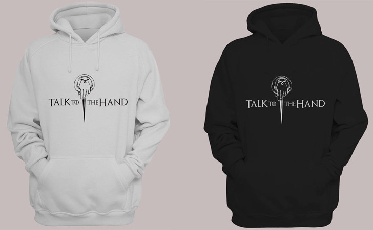 Talk To The Hand Hoodie